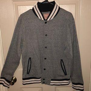 Varsity Striped Bomber Jacket/ Sweater